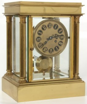 Lg. Size Crystal Regulator Table Clock