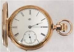 Elgin 14K Gold Hunter Case Pocket Watch
