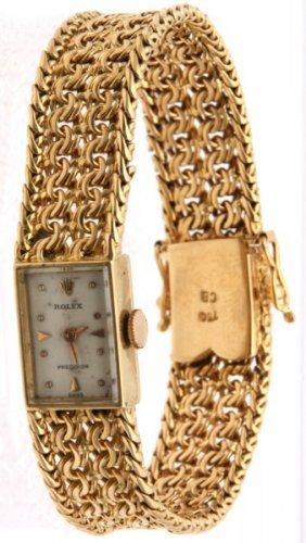 18k Ladies Rolex Precision Wristwatch