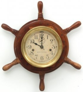 Brass Seth Thomas Engine Lever Clock