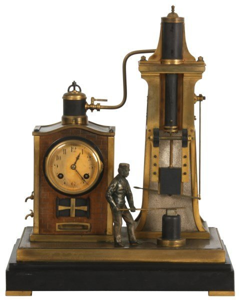 French Industrial Foundryman Mantle Clock