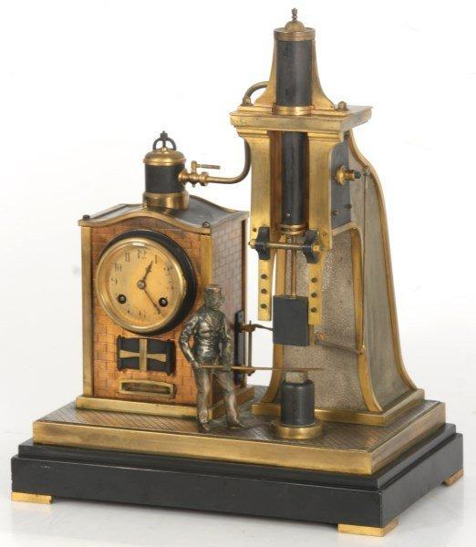 French Industrial Foundryman Mantle Clock - 2