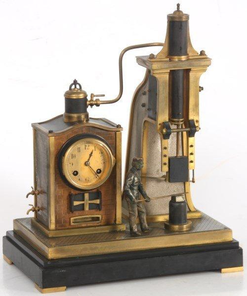 French Industrial Foundryman Mantle Clock - 3