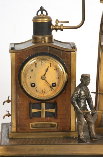 French Industrial Foundryman Mantle Clock - 4
