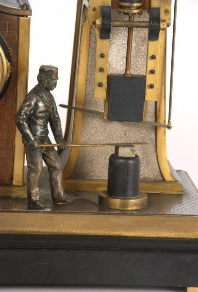 French Industrial Foundryman Mantle Clock - 5