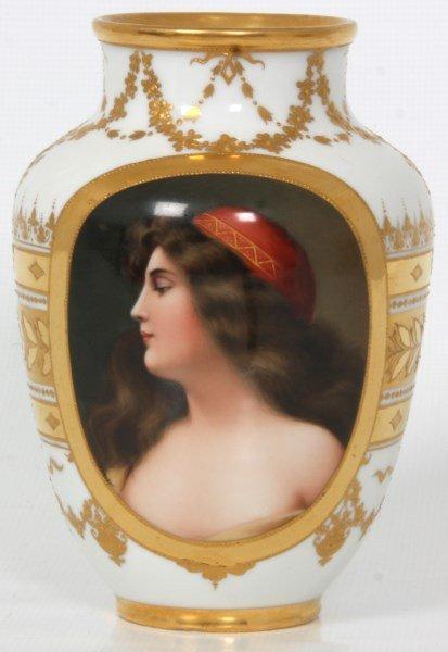 Royal Vienna Porcelain Portrait Vase - 3