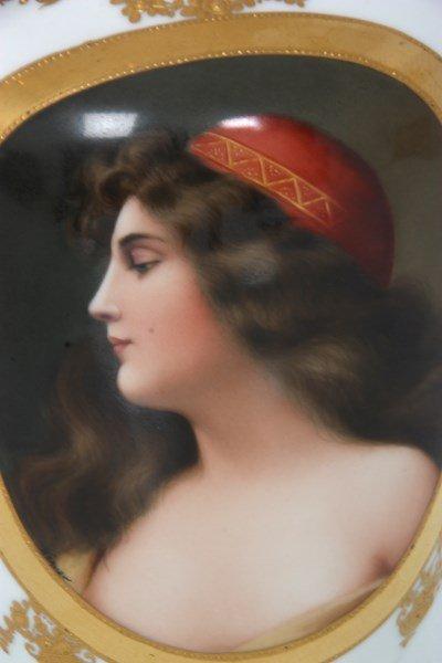 Royal Vienna Porcelain Portrait Vase - 4