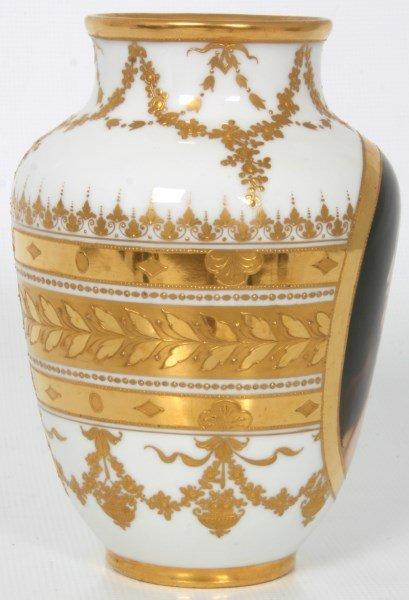 Royal Vienna Porcelain Portrait Vase - 6