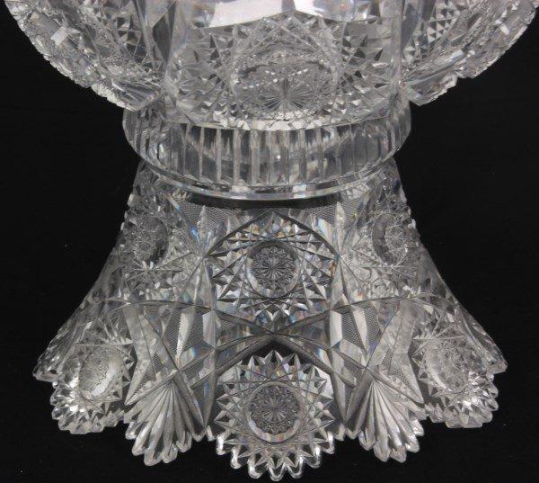 Chrysanthemum Pattern Cut Glass Punchbowl - 5