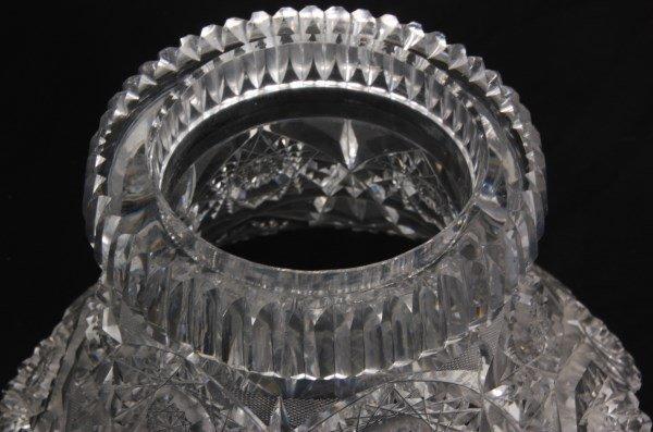 Chrysanthemum Pattern Cut Glass Punchbowl - 7