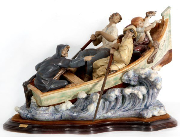 Large Lladro Grouping Titled The Rescue