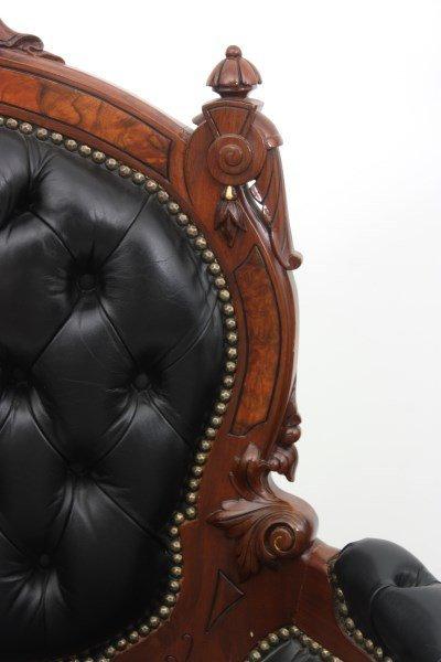 Pr. John Jelliff Walnut Parlor Armchairs - 3