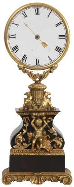 Robert Houdin Glass Dial Mystery Clock