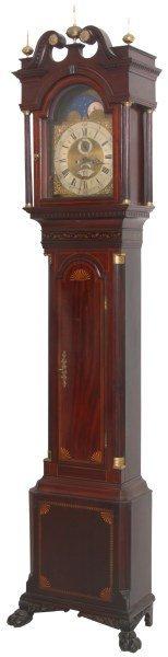 Benjamin Boyce Inlaid Mahogany Tall Clock