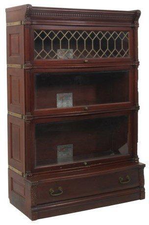 Mahogany Ideal Stacking Bookcase