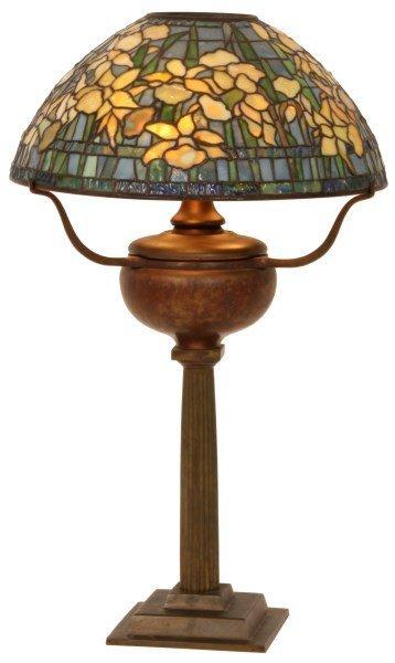 16 in. Tiffany Studios Daffodil Table Lamp