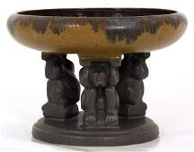 Fulper Pottery Figural Effigy Bowl