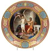 Royal Vienna Porcelain Plate  Daedalus and Icarus