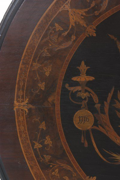 Exceptional Centennial Inlaid Top Center Table - 10