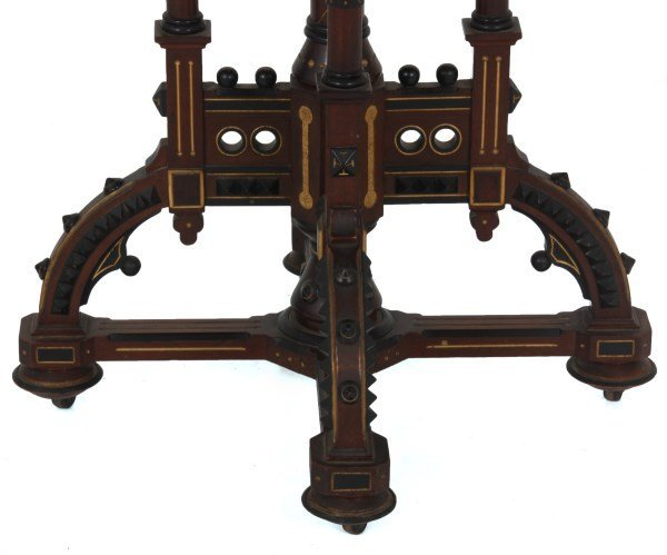 Exceptional Centennial Inlaid Top Center Table - 3