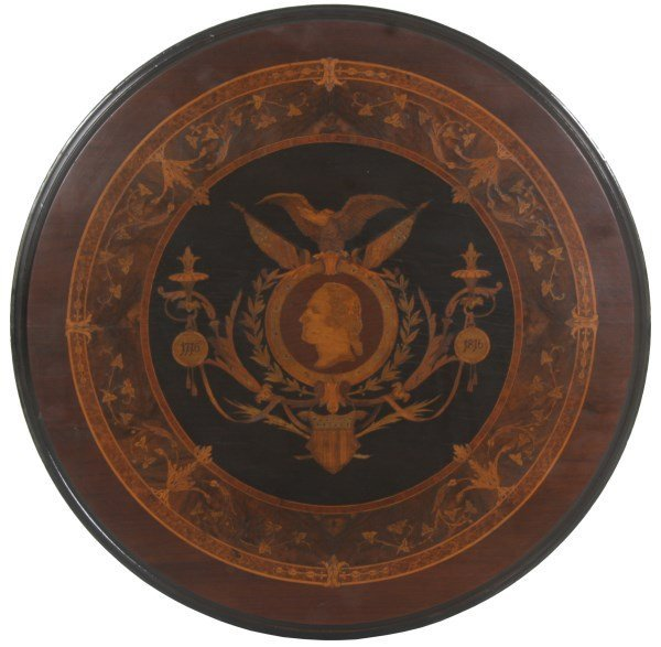 Exceptional Centennial Inlaid Top Center Table - 6