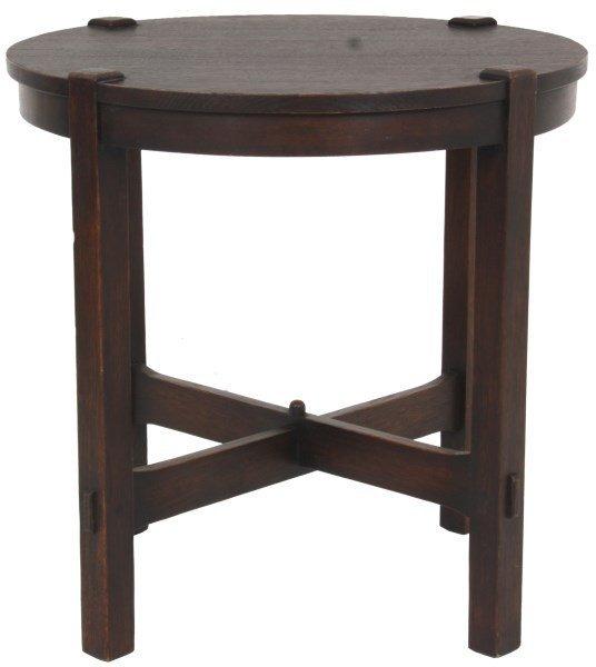Gustav Stickley No. 439 Oak Tea Table
