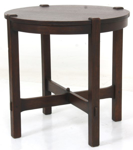 Gustav Stickley No. 439 Oak Tea Table - 2