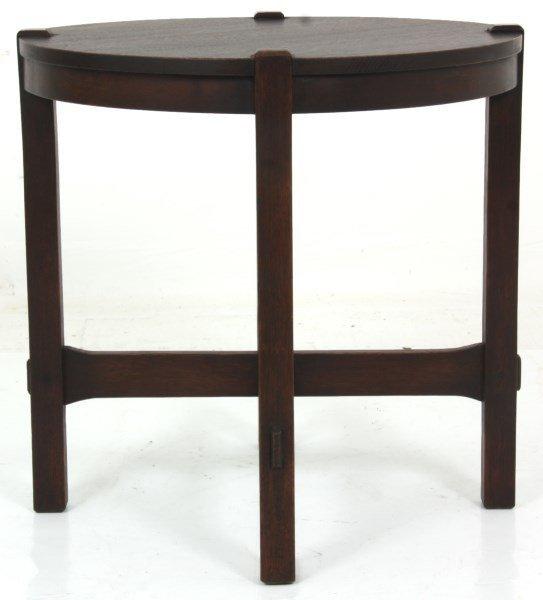 Gustav Stickley No. 439 Oak Tea Table - 8