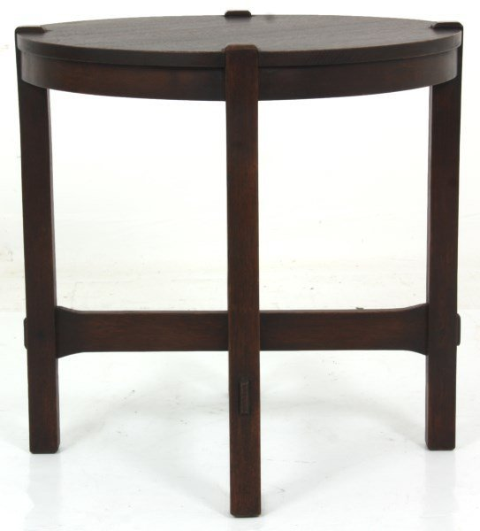 Gustav Stickley No. 439 Oak Tea Table - 8
