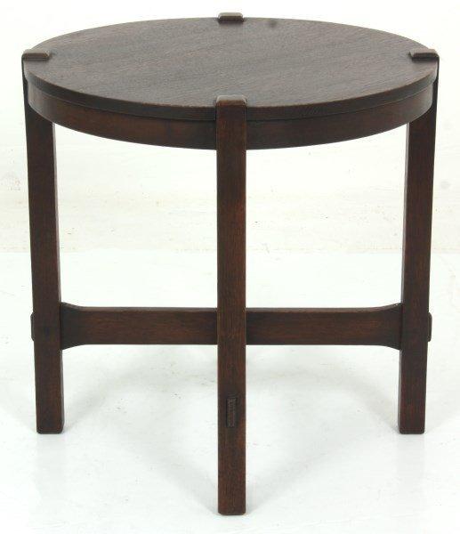 Gustav Stickley No. 439 Oak Tea Table - 9