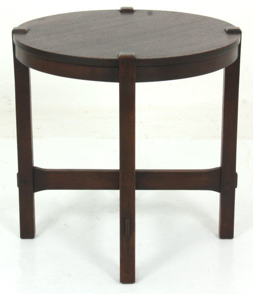 Gustav Stickley No. 439 Oak Tea Table - 9