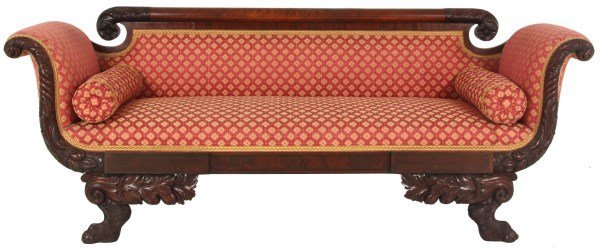 Federal Mahogany Carved Sofa