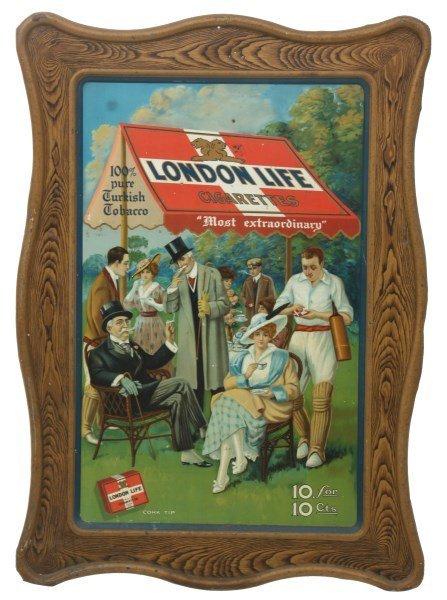 London Life Cigarettes Self Framed Sign