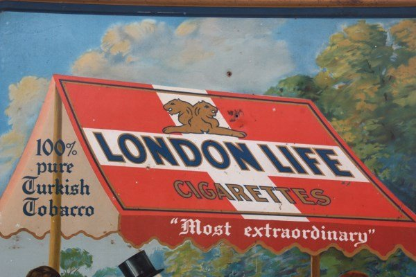 London Life Cigarettes Self Framed Sign - 6