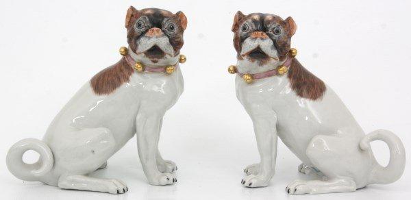 Pr. Carl Thieme Dresden Porcelain Dogs