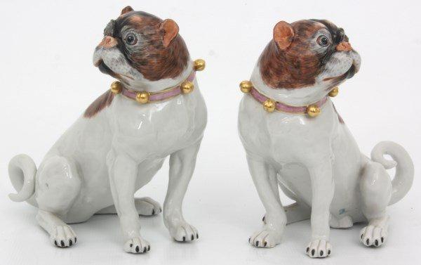 Pr. Carl Thieme Dresden Porcelain Dogs - 2