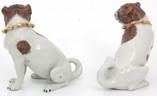 Pr. Carl Thieme Dresden Porcelain Dogs - 3