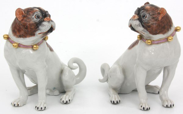 Pr. Carl Thieme Dresden Porcelain Dogs - 9