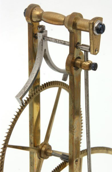 Brass Great Wheel Skeleton Clock - 10