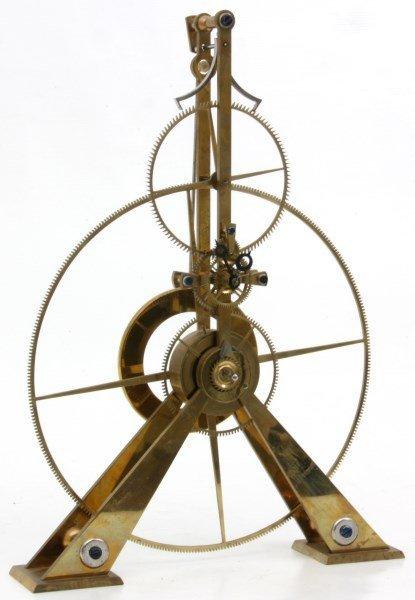 Brass Great Wheel Skeleton Clock - 2