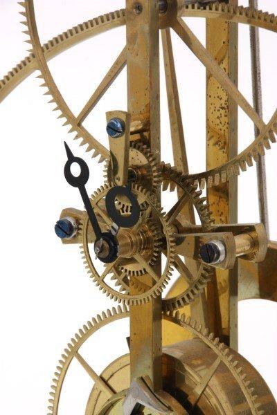 Brass Great Wheel Skeleton Clock - 3