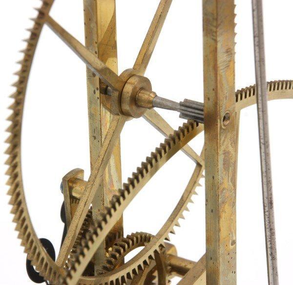 Brass Great Wheel Skeleton Clock - 9