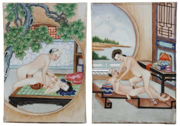 Pr. 19th Century Chinese Erotic Tiles