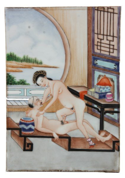 Pr. 19th Century Chinese Erotic Tiles - 2