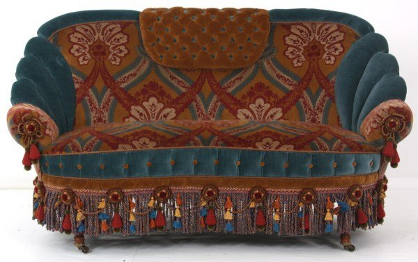 Turkish-Style Victorian Love Seat