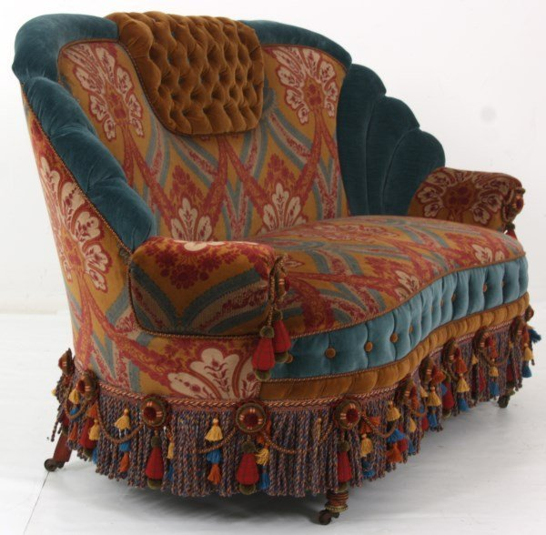 Turkish-Style Victorian Love Seat - 6