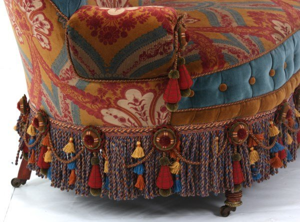 Turkish-Style Victorian Love Seat - 7