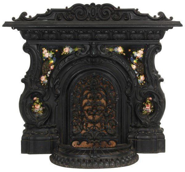 Rococo Cast Iron Fireplace Mantle