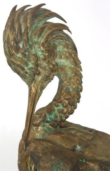 Bronze Moigniez Egret Sculpture - 2