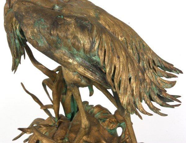 Bronze Moigniez Egret Sculpture - 3